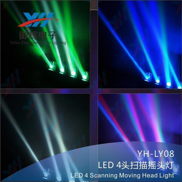 LED 4 Scanning Moving Head Light