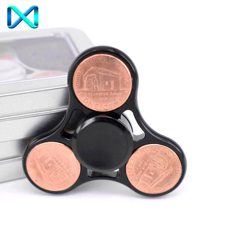 EDC Adhd Focus Toy Copper Fingertip Gyro Metal Fidget Hand Spinner