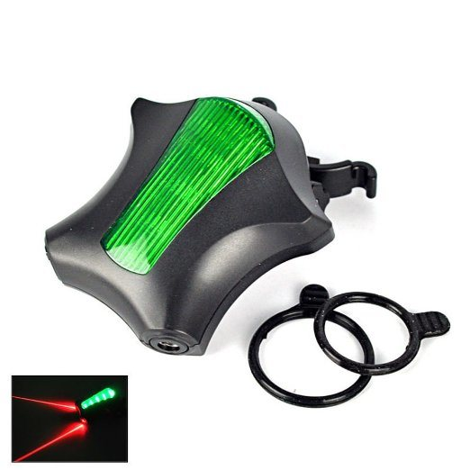 7 Modes 5 LED Waterproof Starfish Shape Bicycle Laser Tail Light