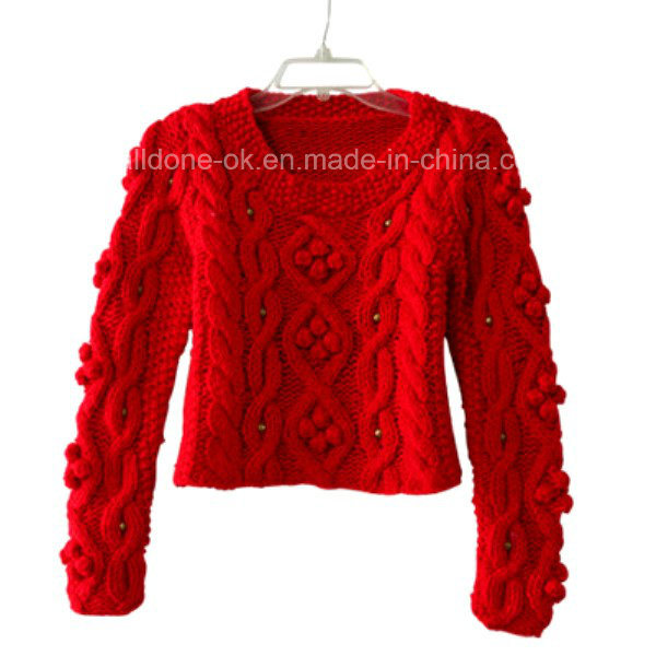 Custom New Design Hand Knit Sweater Cardigan Pullover Apparel Knitwear