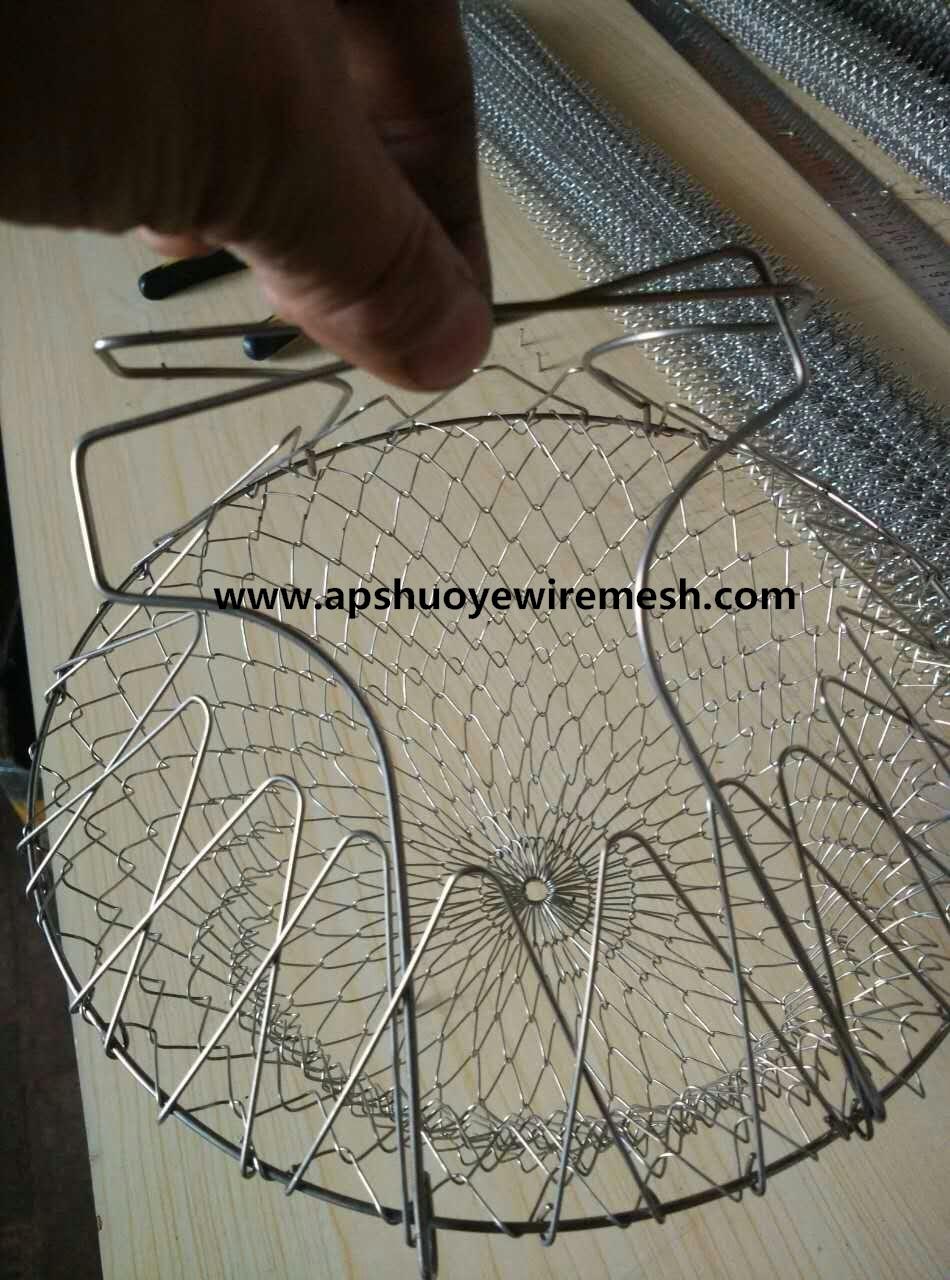 Metal Wire Mesh Fry Oil Basket