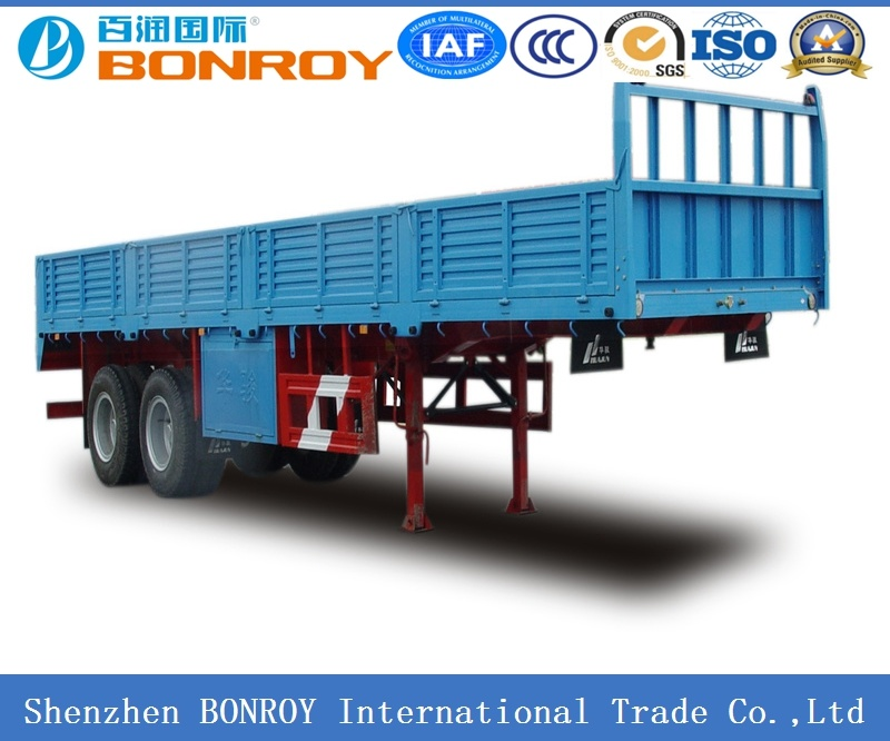 2 Axle Fence Semi-Trailer with Side Wall
