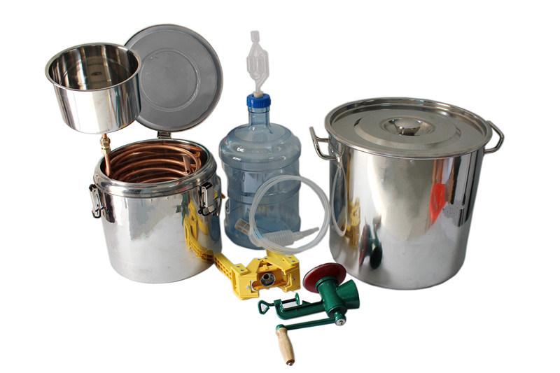 Kingsunshine 30L/8gal Stainless Steel Beer Barrel Kits, Household Beer Fermenting Distillation Equipment