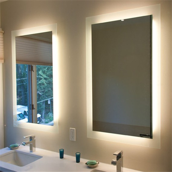 Custom Us Hotel Bathroom Frameless LED Lighted Backlit Mirror