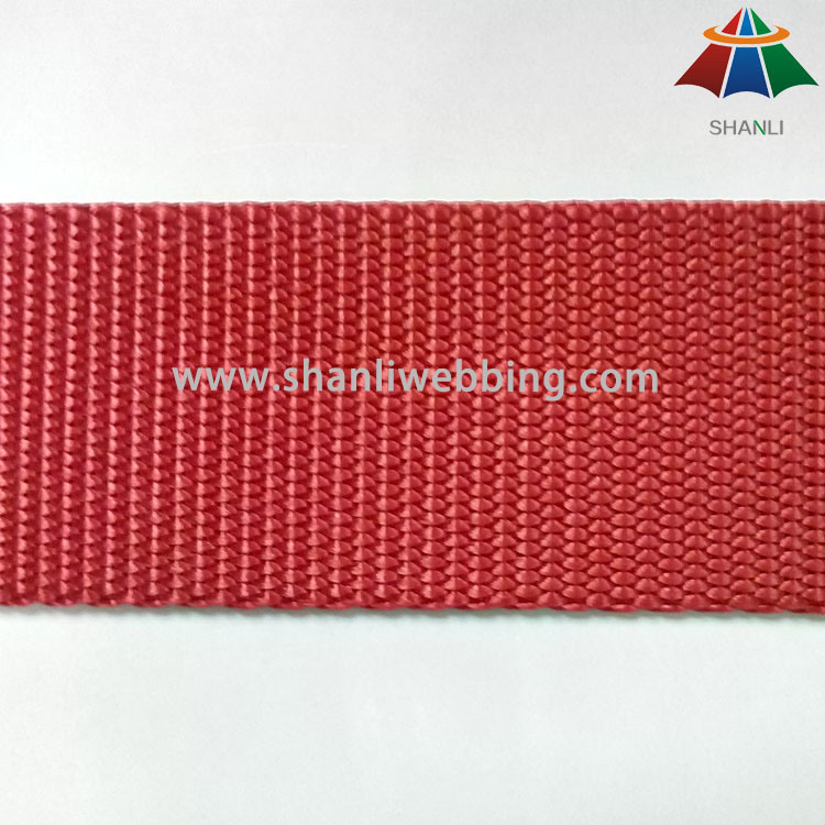 1.5 Inch (38mm) Bright Red Blue Flat Nylon Webbing for Shoulder Straps