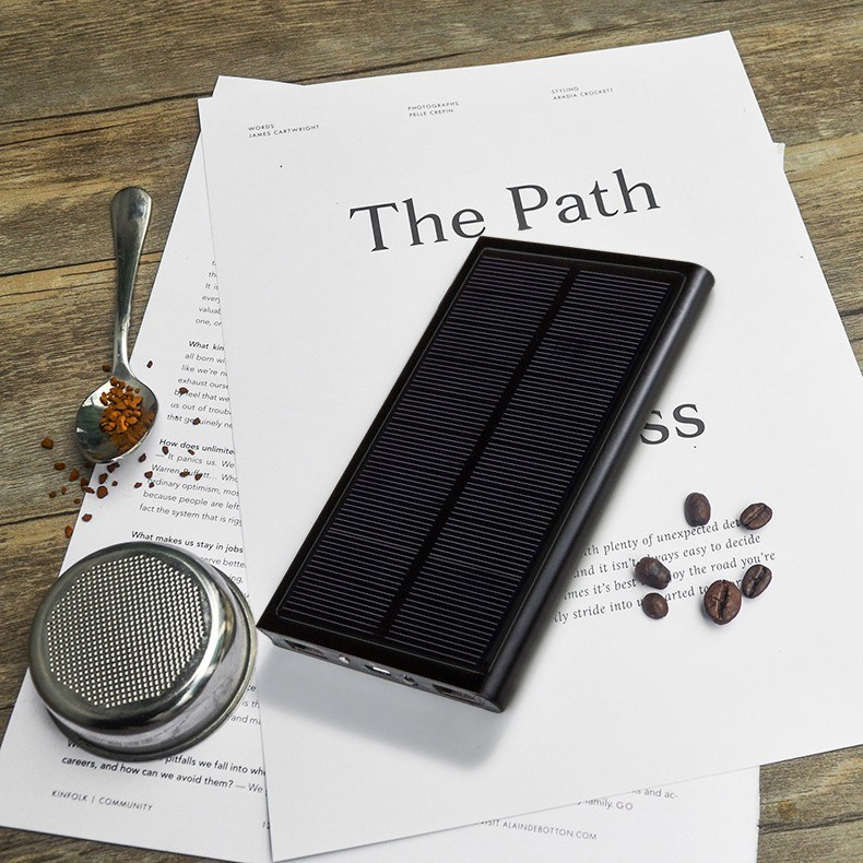 20000mAh Universal Dual USB Solar Charger Ultra Slim Laptop Power Bank Portable External Battery Solar Power Bank Free Logo Offered