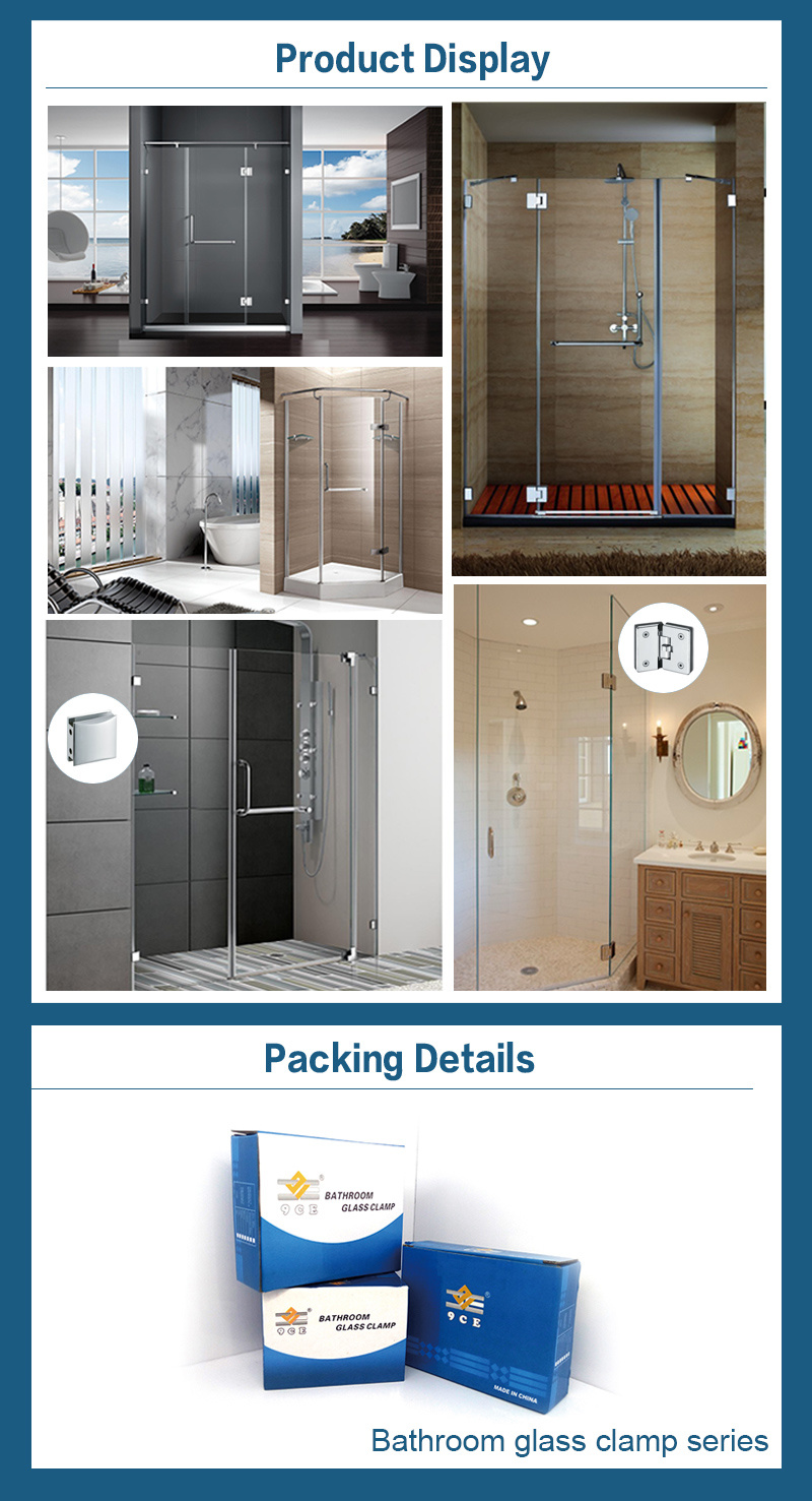 Wall to Glass Zinc Alloy Shower Hinge