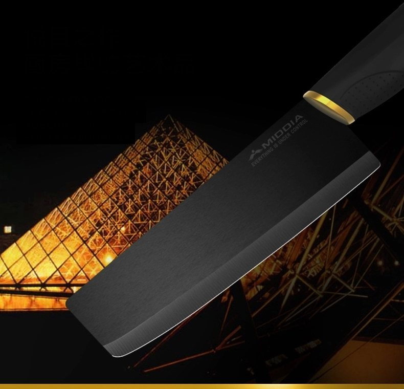 New Design Black Blade Ceramic Cleaver in 6 Inch for Cooking