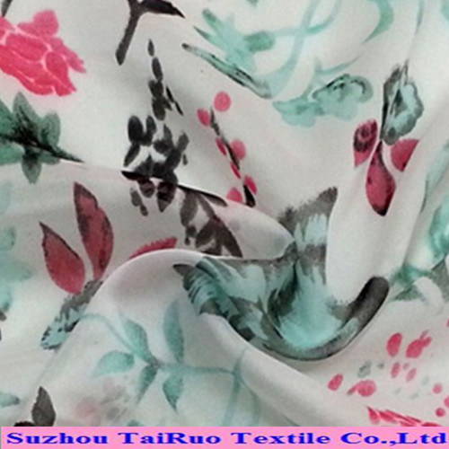 2016 Digital Fabric Textile 100% Polyester Silk Chiffon Printed Fabric Wholesale