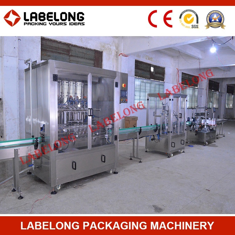 Full Automatic Glass Bottle Pet Bottle Cooking Oil Filling Machine