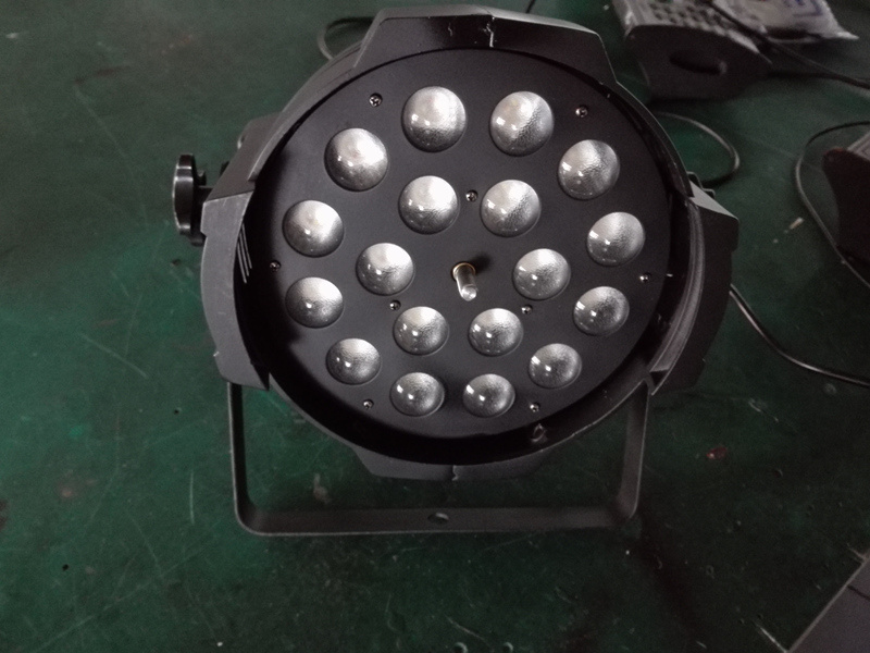 18X18W 6in1 RGBWA+UV Zoom LED PAR Light for Stage Lighting