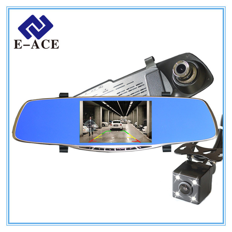 5 Inch Review Mirror Camera Auto Dash Cam Car DVR