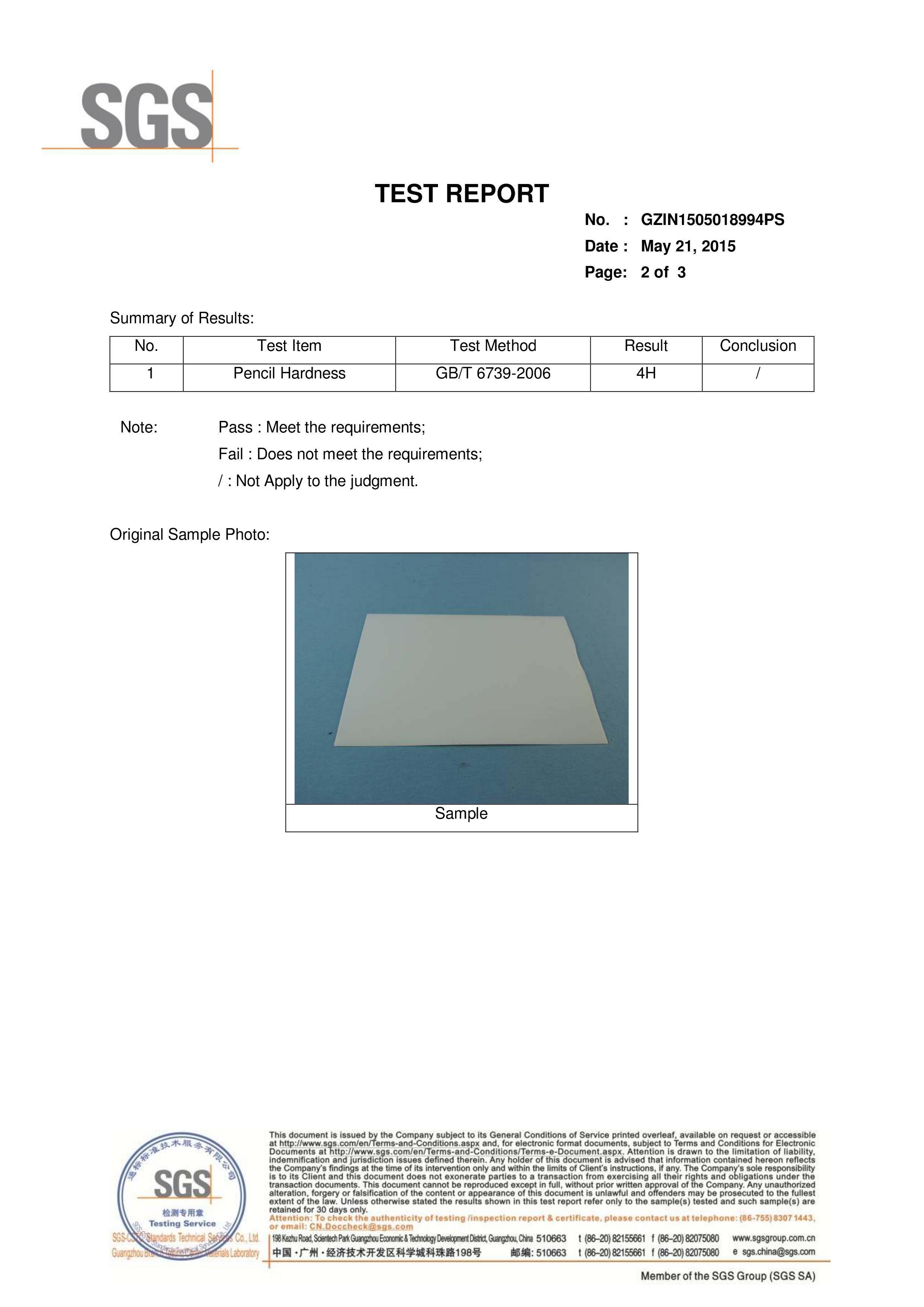 1mm Antiscratch Acrylic