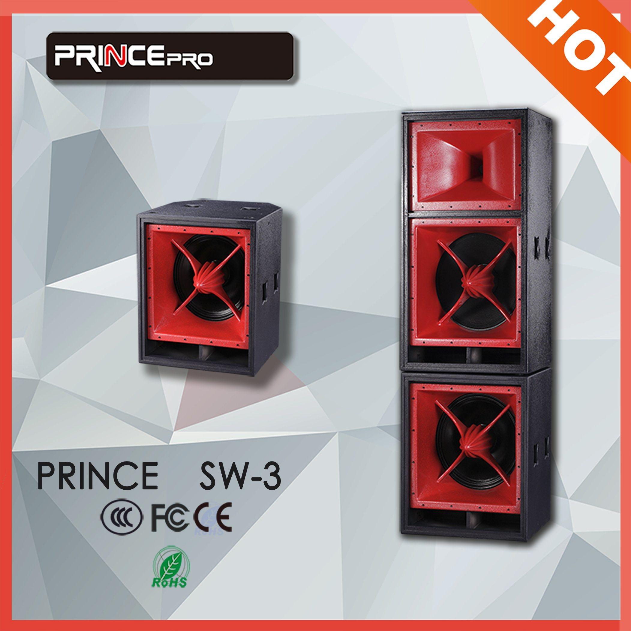 Dual 18 Inch Professional Three-Way Long Throw PA Speaker
