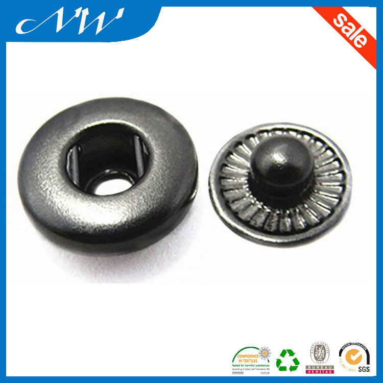Metal Nickel Plated Brass Snaps Button for Jacket & Leather
