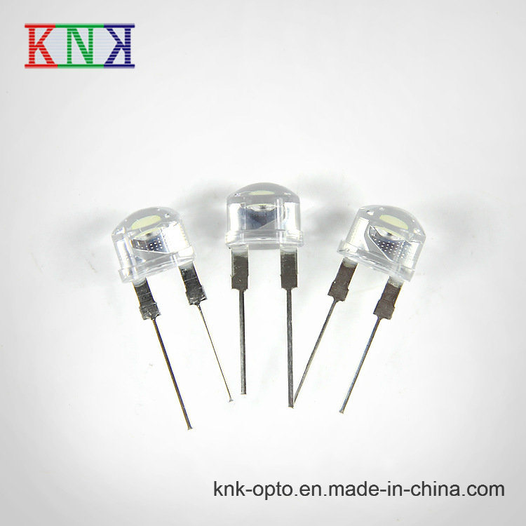 8mm Straw Hat High Brightness White Water Clear LED