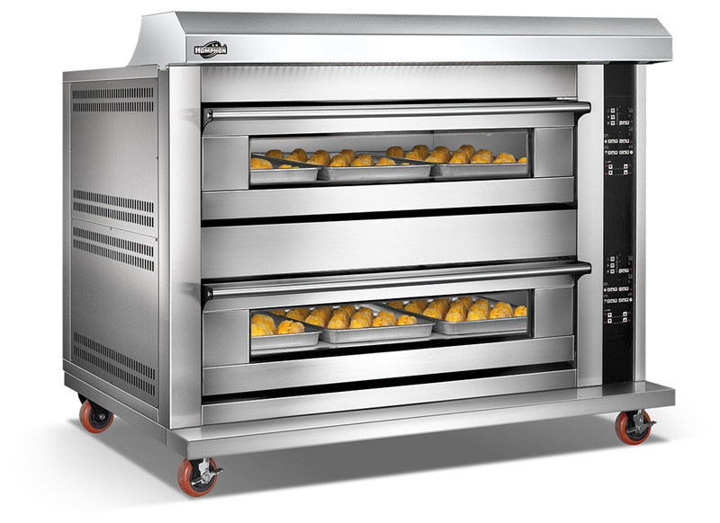 Hot Sale Electric Two Deck Four Tray Oven (204DHAF)