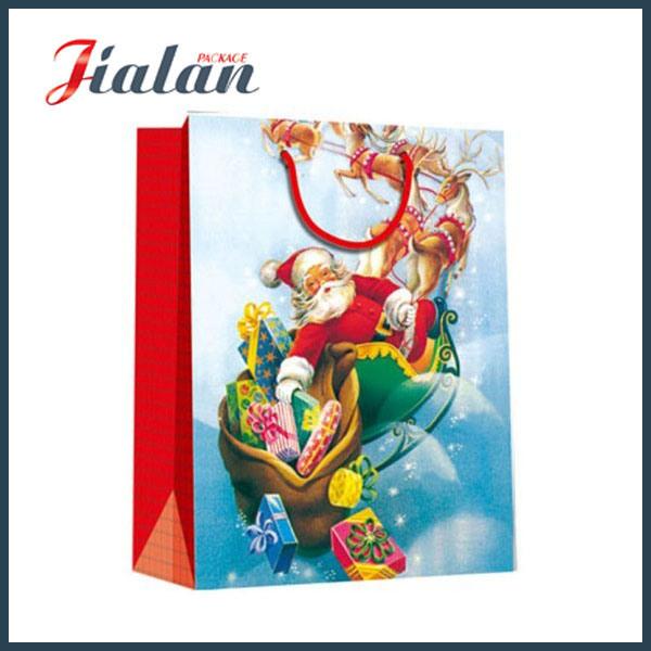 Sledge Printed Christmas Shopping Bag with UV