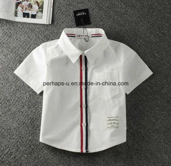 High Quality White Baby Boys Polo Shirt Children Wear T-Shirt