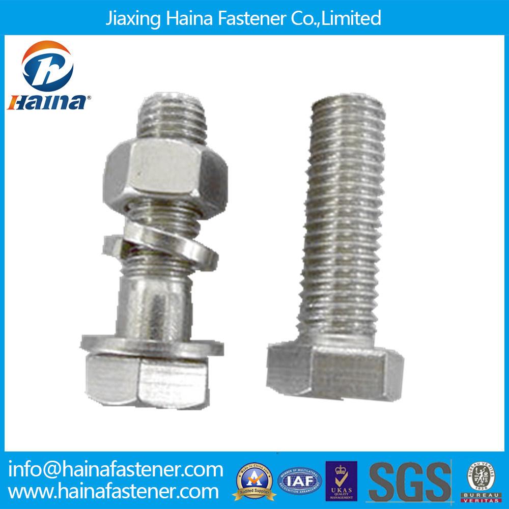 Carbon Steel/Galvanized DIN933 DIN931 ASTM A325 A490 B7 B8 High Strength Heavy Hex Head Bolt