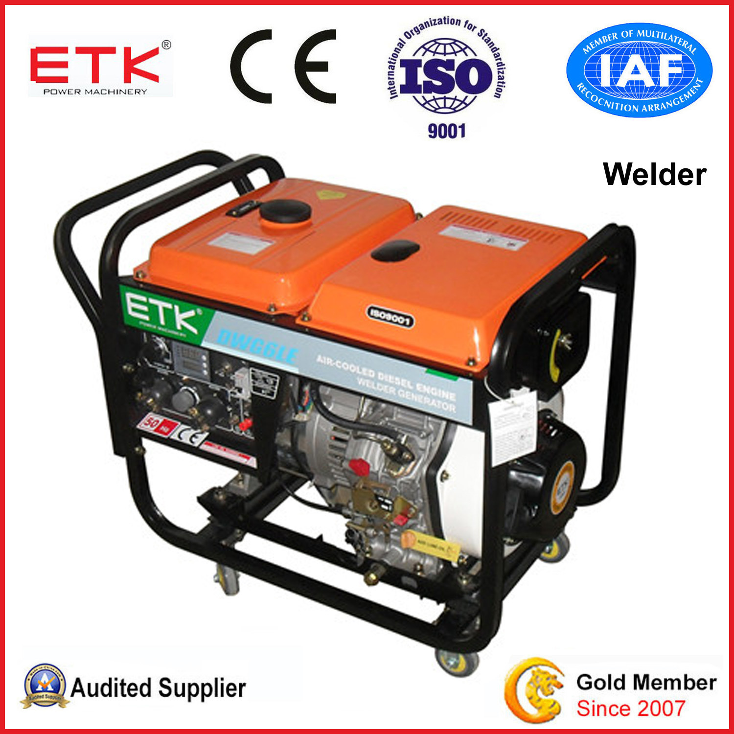 China Small Diesel Generator&Welder Set with CE 5KW China