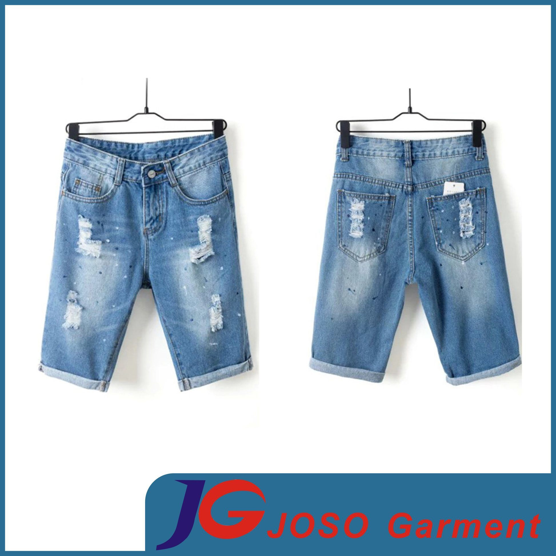 China Half Casual Pants Ripped Jean Shorts Women Sports Wear ...