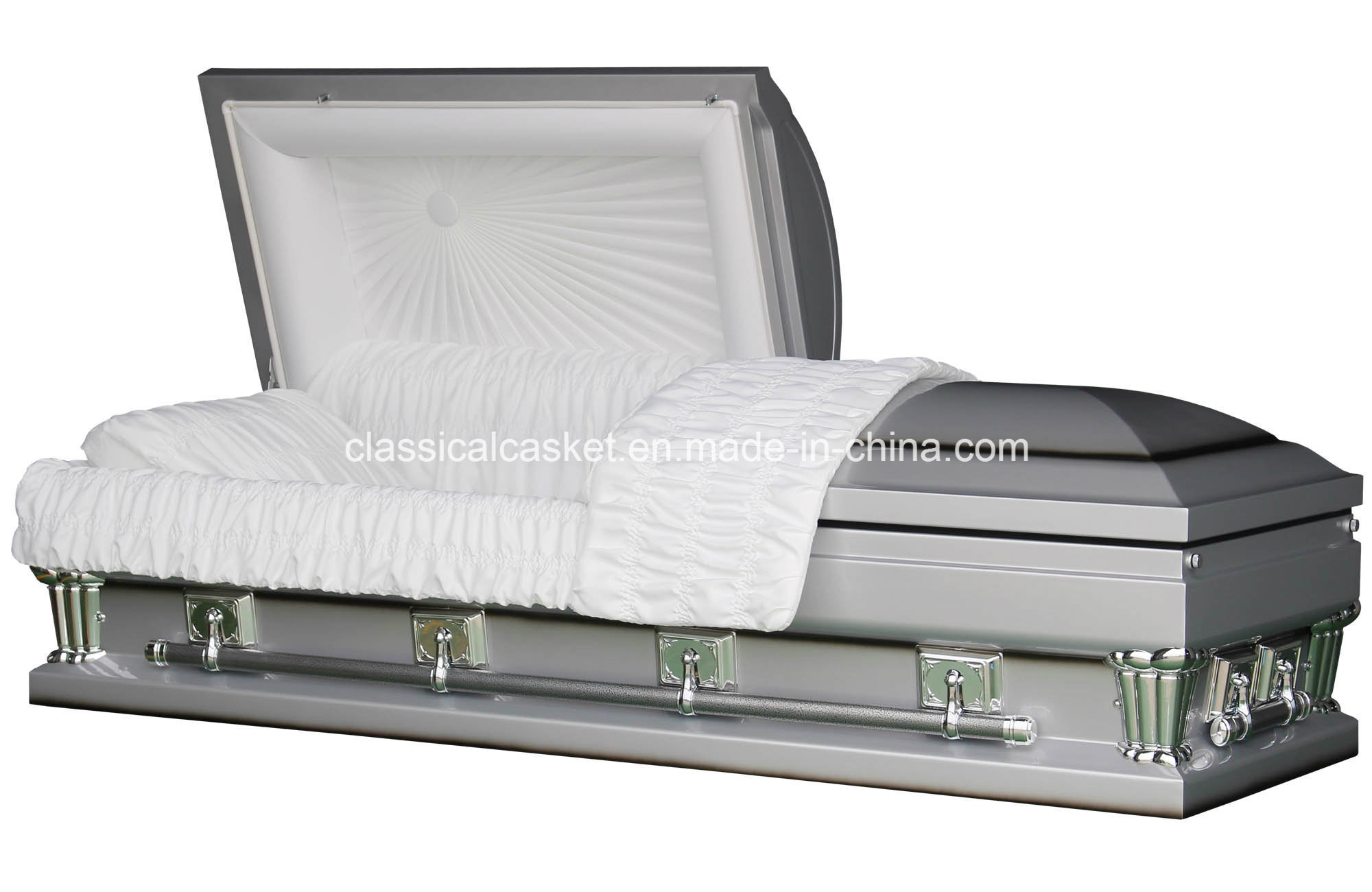 Frank Silver Oversize 28 Inches Metal Casket