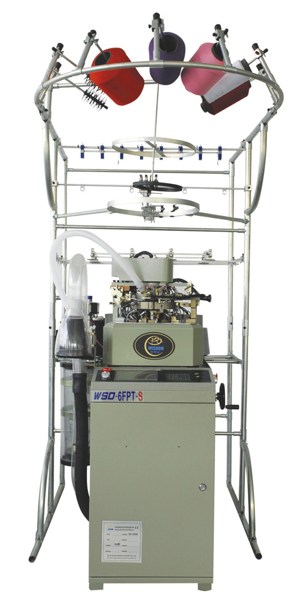 Wsd-6fpt-S Full Automatic Flat Socks Knitting Machine with CE and ISO