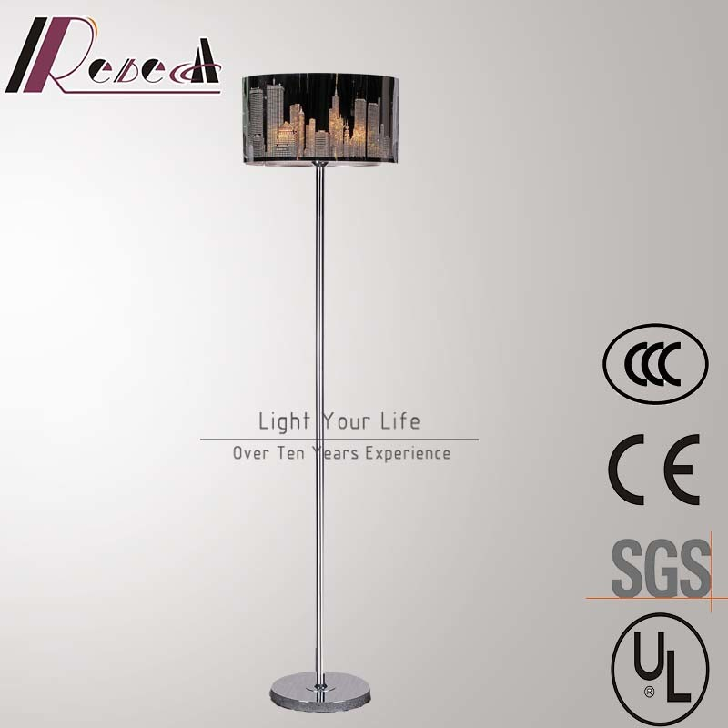 Modern Hotel Decorative Stainless Steel Standing Floor Lamp