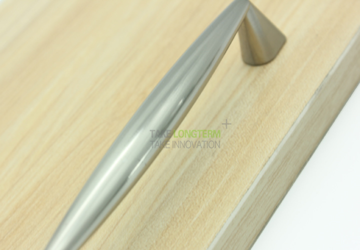 Brushed Satin Nickel Modern Kitchen Cabinet Accessories Cupboard Door Handle