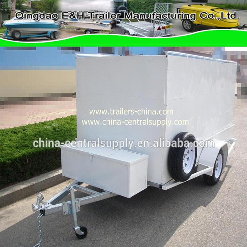 Factory Made Galvanized 10X5 Cage and Box Trailer (CT0080E-5)