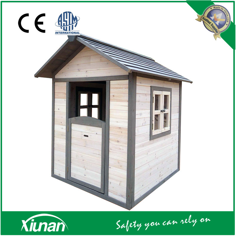 Tsc03 Indoor and Outdoor Painted Wooden Cubby Playhouse for Children