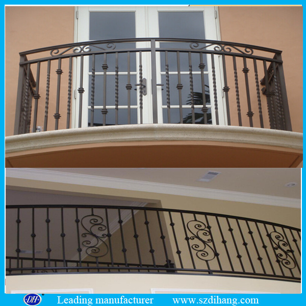 China top sale iron balcony railing designs cast iron for Terrace railing design