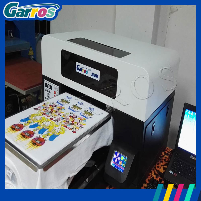 2016 China Manufacture A3 3D Flatbed Digital Direct 100% Cotton Fabric Textile T-Shirt Printer