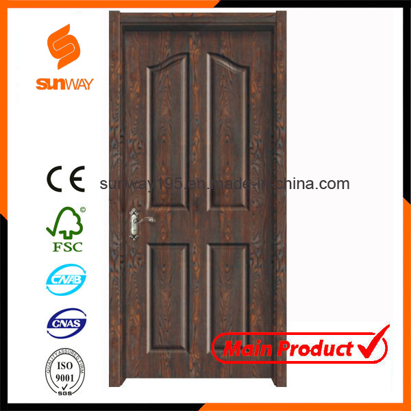 New Design Boutique Green Healthy Wooden Door with Ce