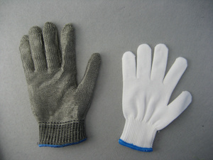 Single Layer Stainless Steel Metal Mesh Cut Resistant Work Glove