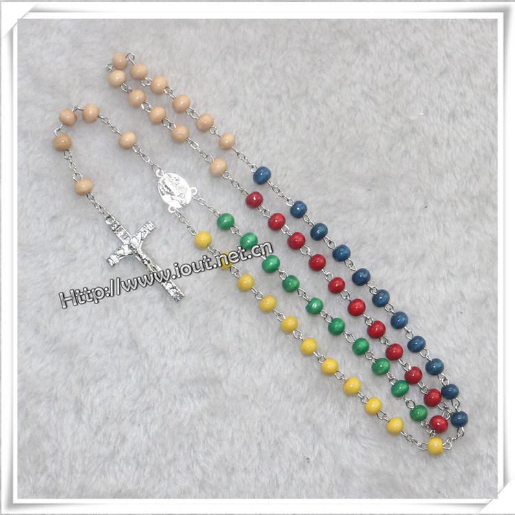 Rosary, Rosaries, Religious Rosary, Wooden Rosary, Glass Rosary (IO-cr000)