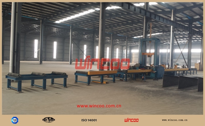 PLC Control H-Beam Assembly Machine/ Steel Fabrication Assemble Station/ Fitting-up Station/H Steel Fabrication Fitting-up Machine/H Beam Assemble Machine