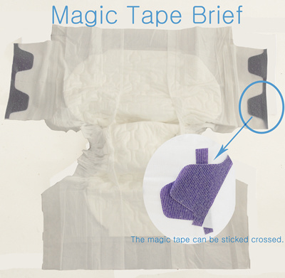 Senior Cloth-Like Soft Breathable Adult Diapers with Magic Tapes