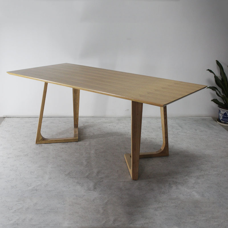 China modern design dining room solid wood dining table for Quality wood dining tables