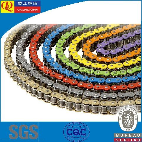 Colored O-Ring Chain for Racing Motorcycles and ATV
