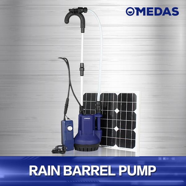 High-Performance Solar Power Rain Barrel Pump