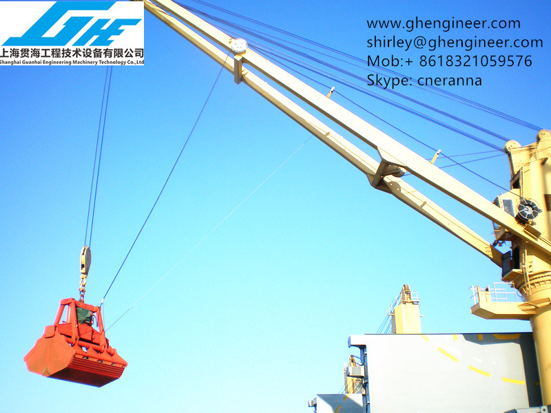 30t Marine Crane Hydraulic Clamshell Grab Bucket