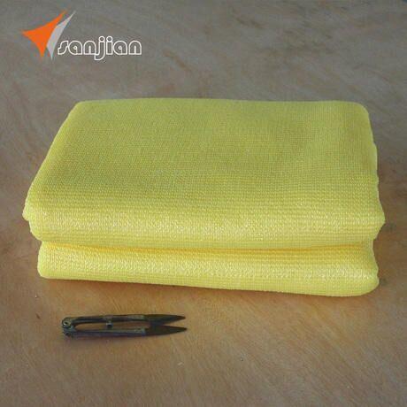 Yellow Color of 100% Virgin New HDPE Fabric Sun Shade Sail (Manufacturer)