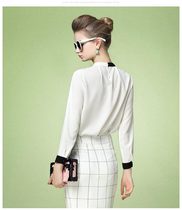 Fashion Long Sleeves Causal Blouse Women Clothing