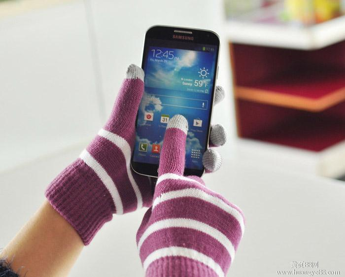 Nylon Acrylic Magic Touch Screen Gloves for iPhone iPad