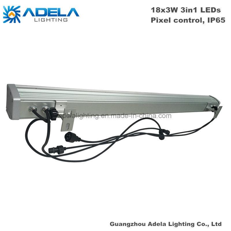 18PCS 3W RGB 3in1 Pixel Control IP65 LED Wall Washer Bar Strip Park Garden Bridge Light