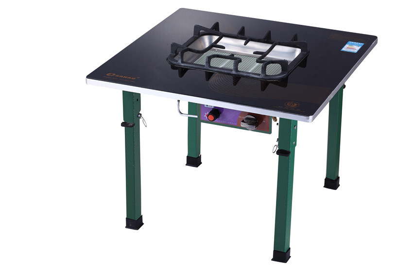 Ceramic Gas Grill with Bakeplate and Stand Table Jn4.2-Tkh11b