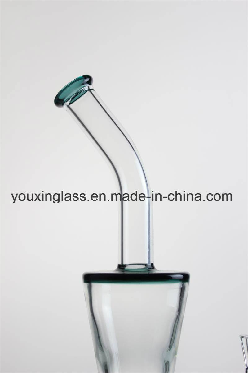 12.5′′ Glass Smoking Pipe Glass Water Pipe with Triangle Shape    and Honeycomb
