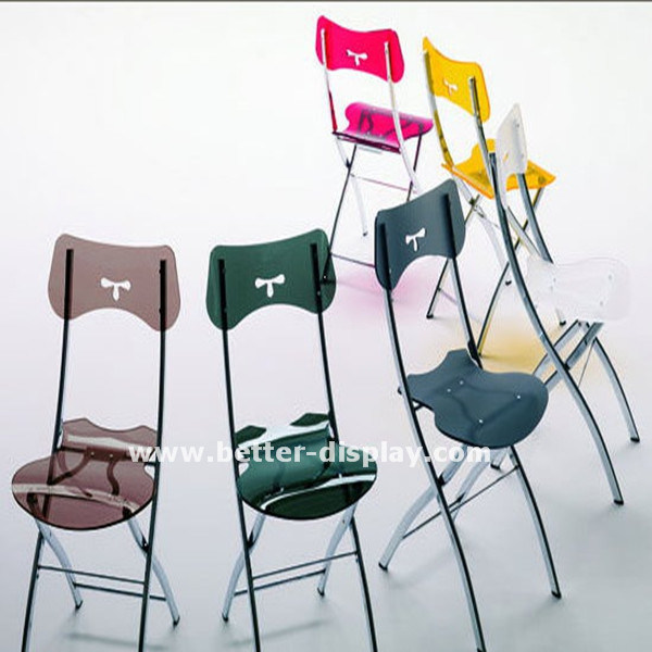 Transparent Acrylic Chair with Metal Legs